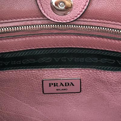 glace calf tote pink